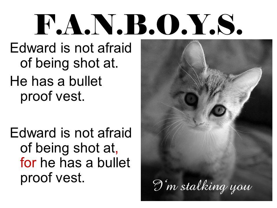 F.A.N.B.O.Y.S. Edward is not afraid of being shot at.