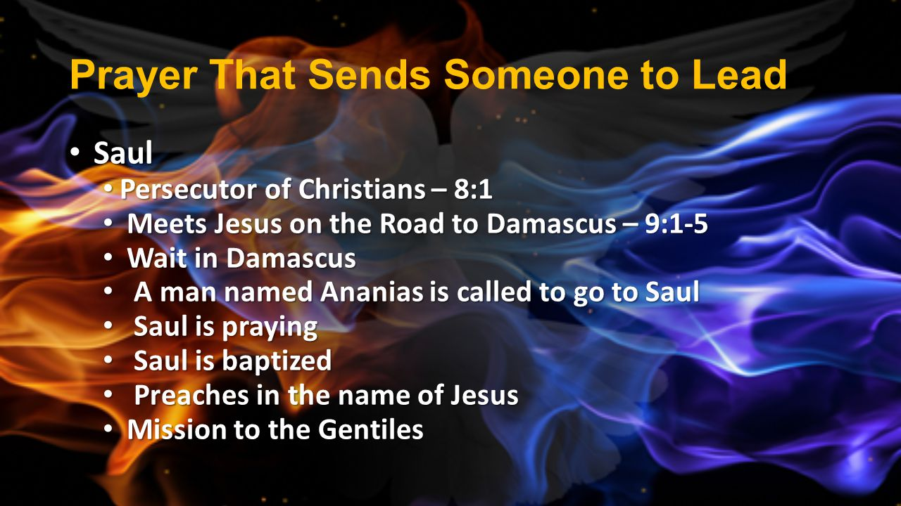 Prayer That Sends Someone to Lead