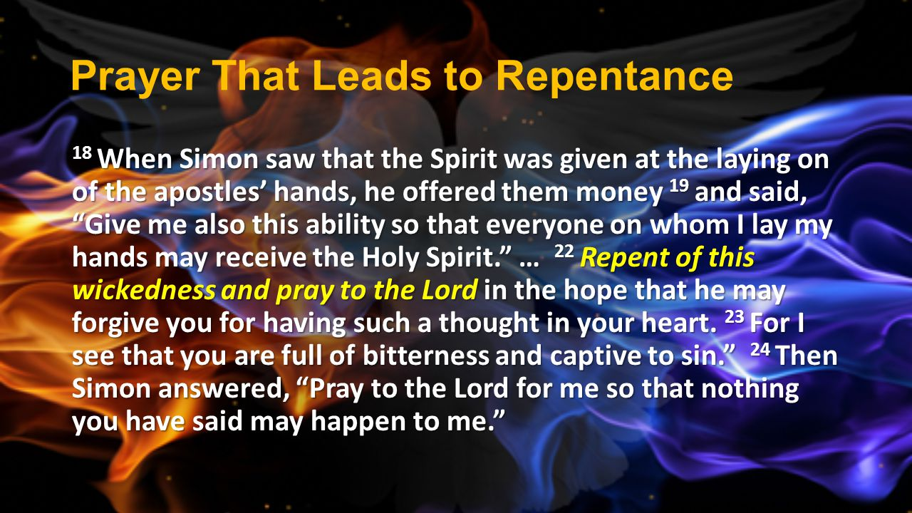 Prayer That Leads to Repentance