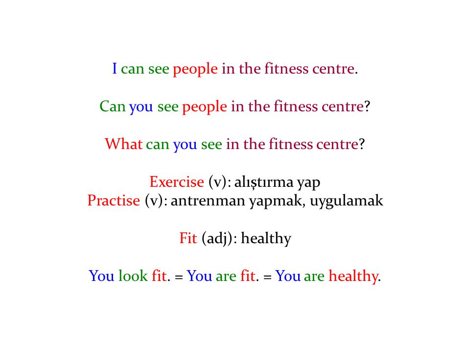I can see people in the fitness centre.