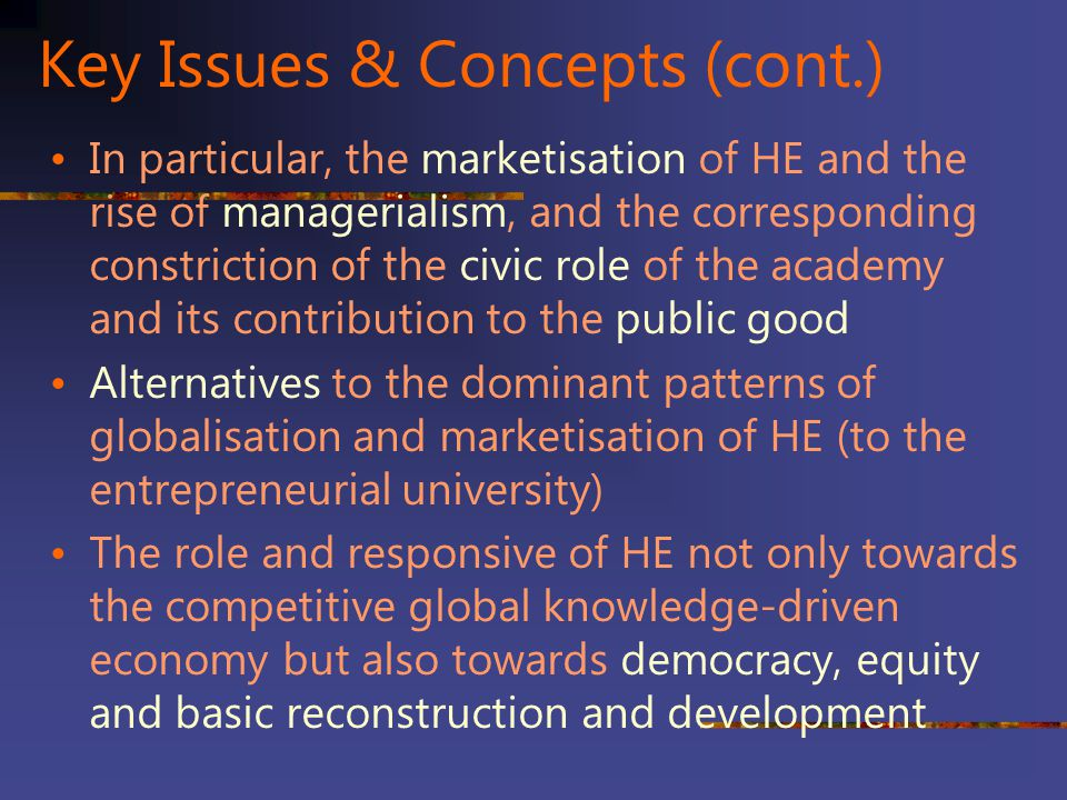 Key Issues & Concepts (cont.)