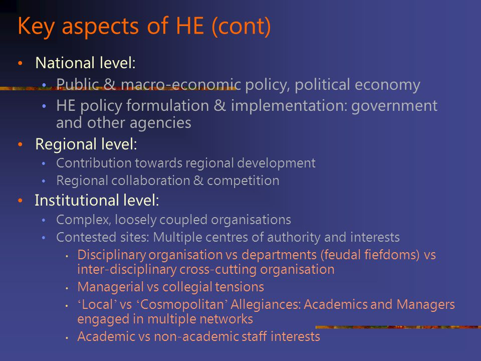 Key aspects of HE (cont)