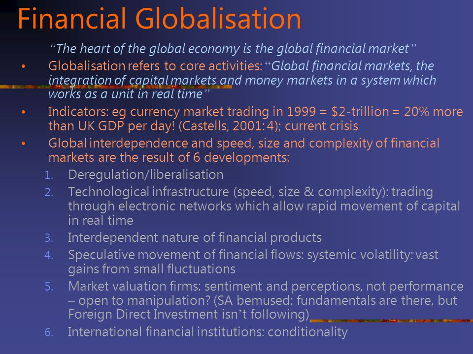 Financial Globalisation