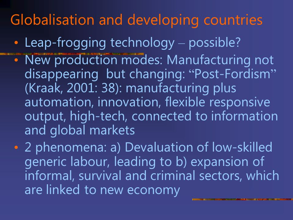 Globalisation and developing countries