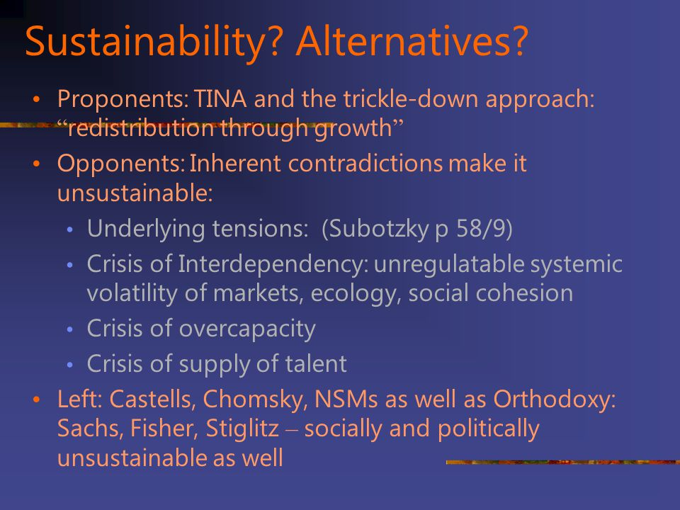 Sustainability Alternatives