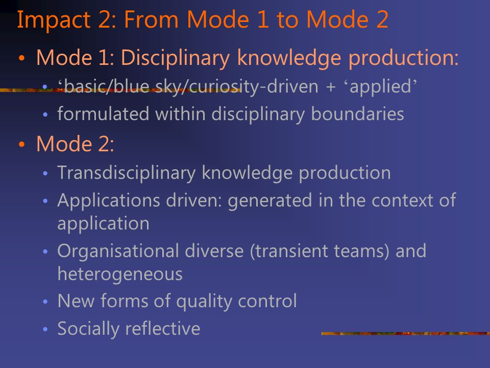 Impact 2: From Mode 1 to Mode 2