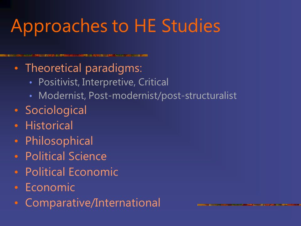 Approaches to HE Studies