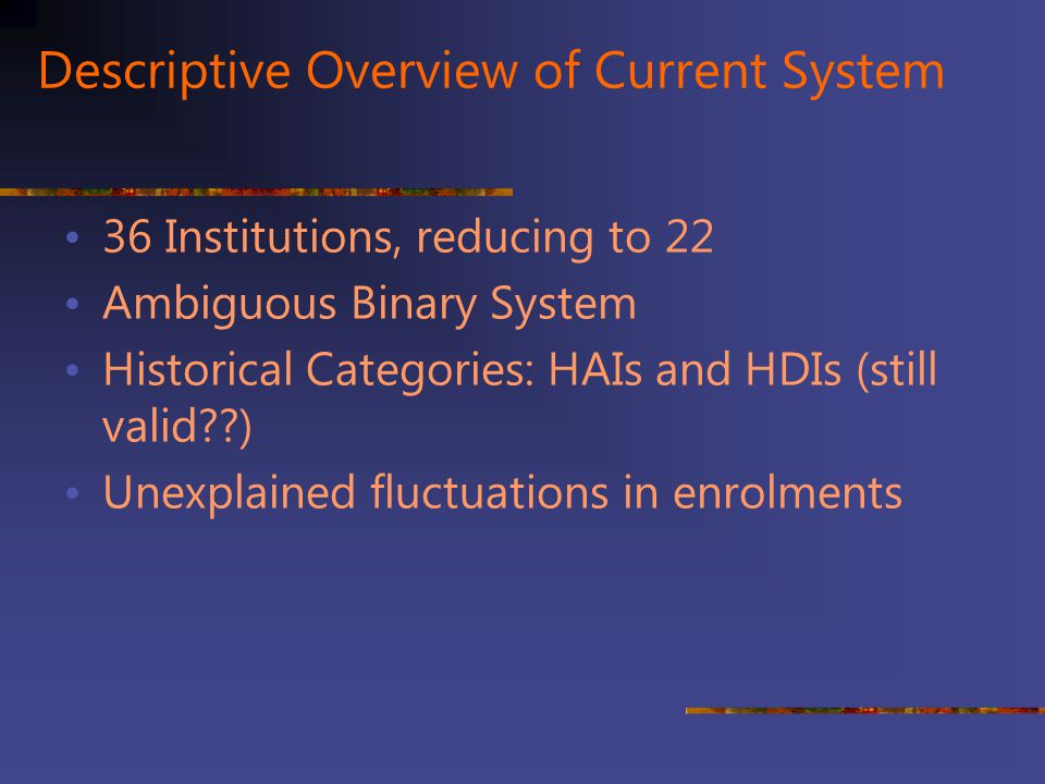 Descriptive Overview of Current System