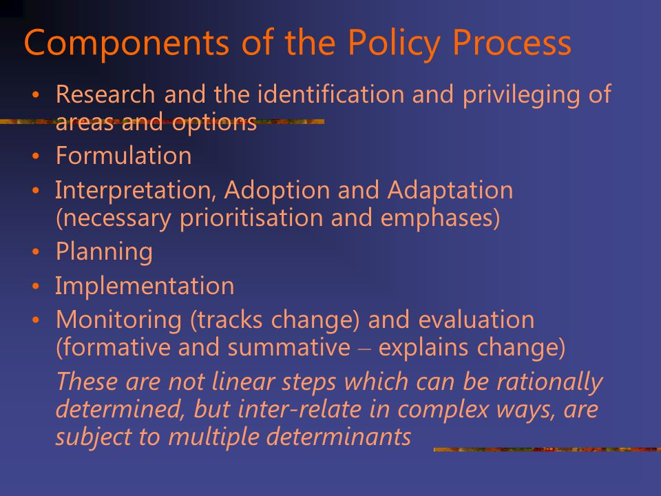 Components of the Policy Process