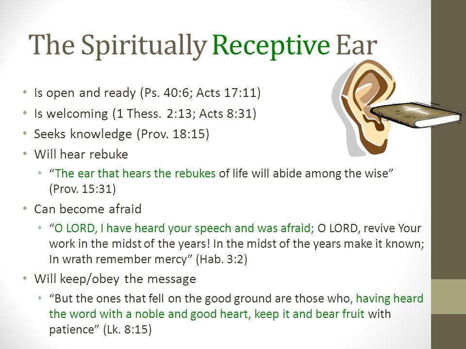 The Spiritually Receptive Ear
