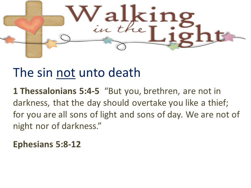 The sin not unto death