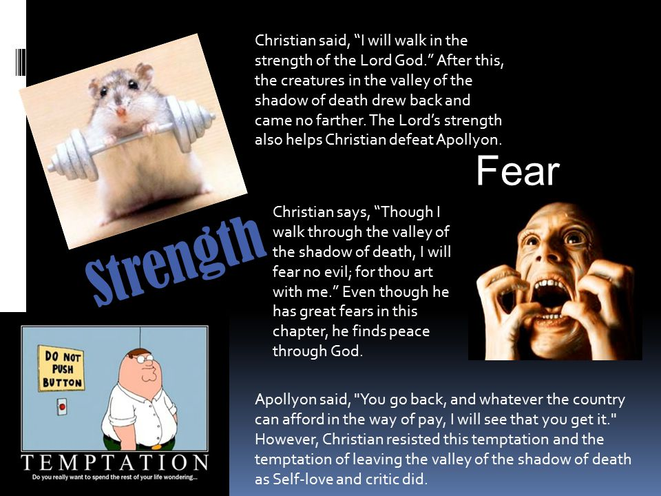Christian said, I will walk in the strength of the Lord God