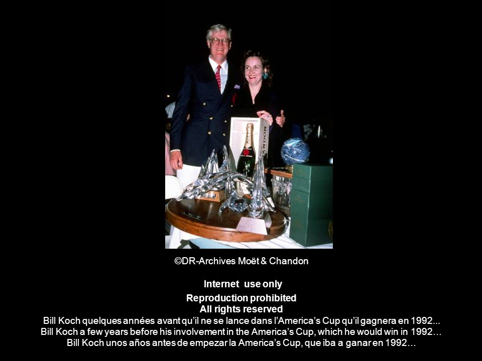 ©DR-Archives Moët & Chandon Internet use only Reproduction prohibited All rights reserved Bill Koch quelques années avant qu'il ne se lance dans l'America's Cup qu'il gagnera en 1992...