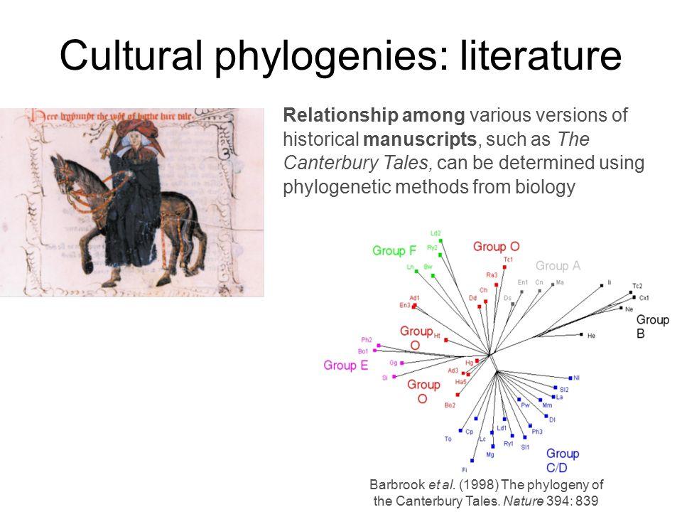 Cultural phylogenies: literature