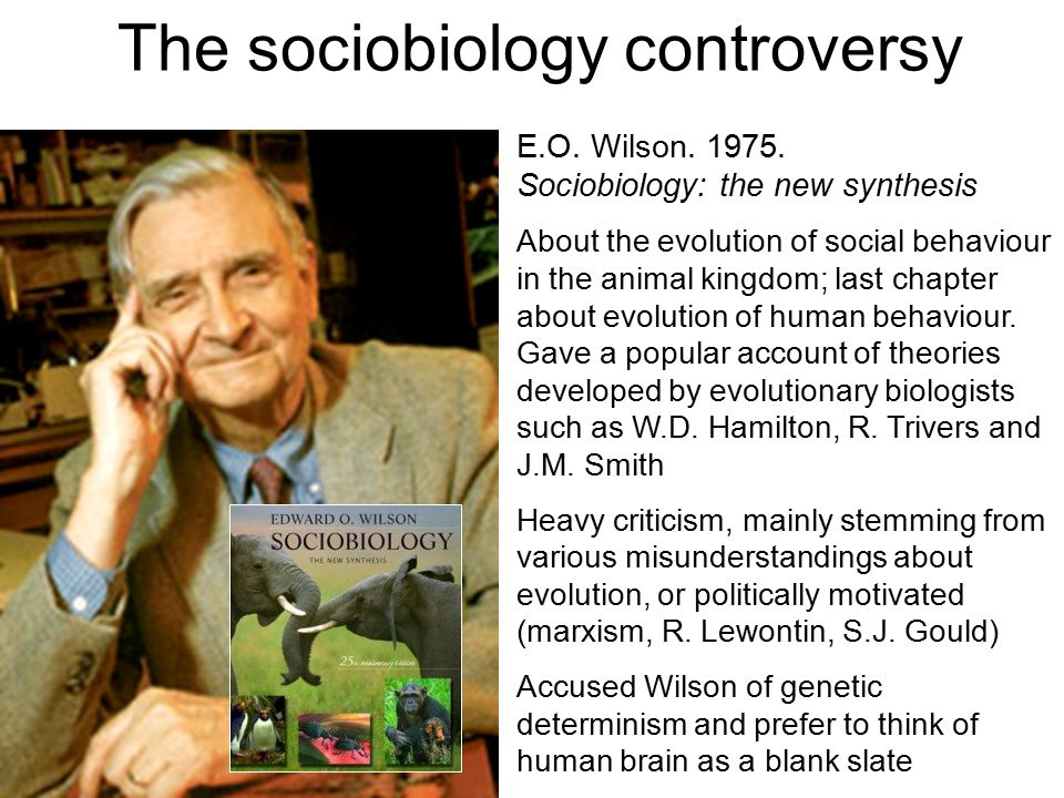 The sociobiology controversy