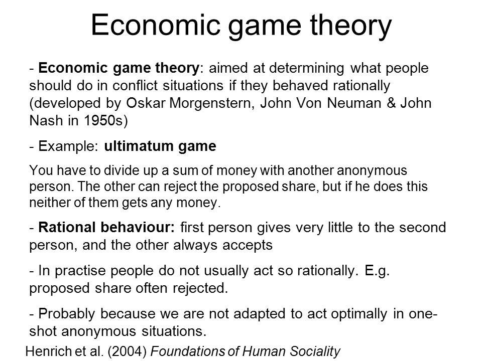 Economic game theory