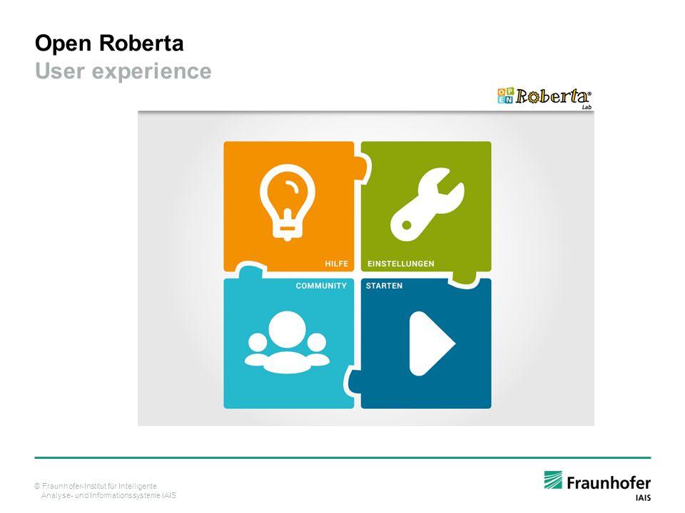Open Roberta User experience