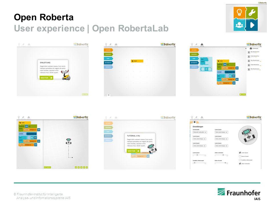 Open Roberta User experience | Open RobertaLab