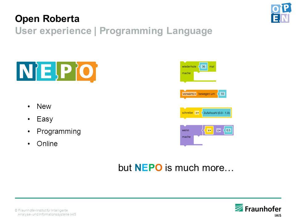 Open Roberta User experience | Programming Language