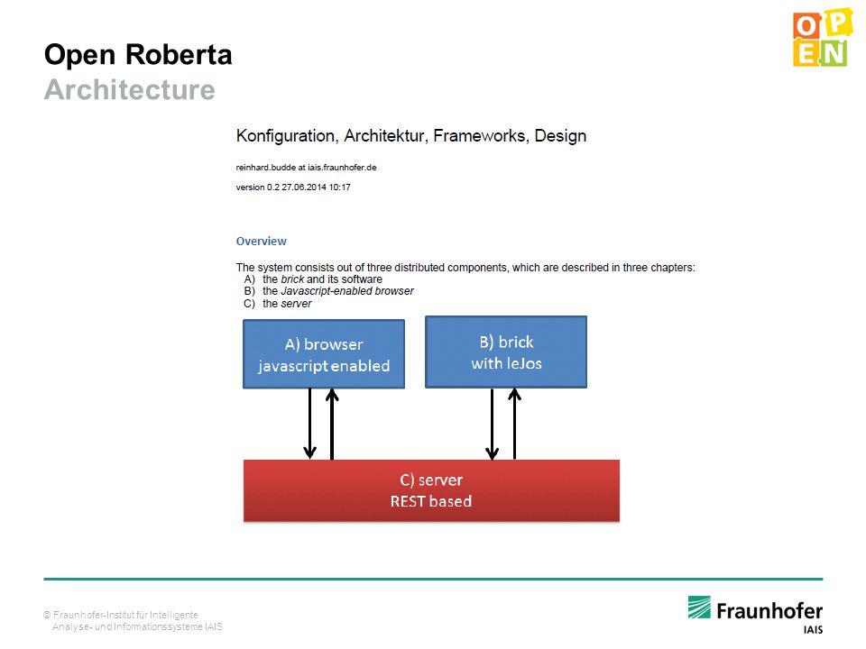Open Roberta Architecture