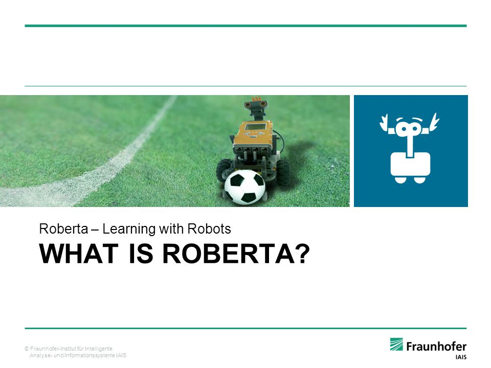 Roberta – Learning with Robots