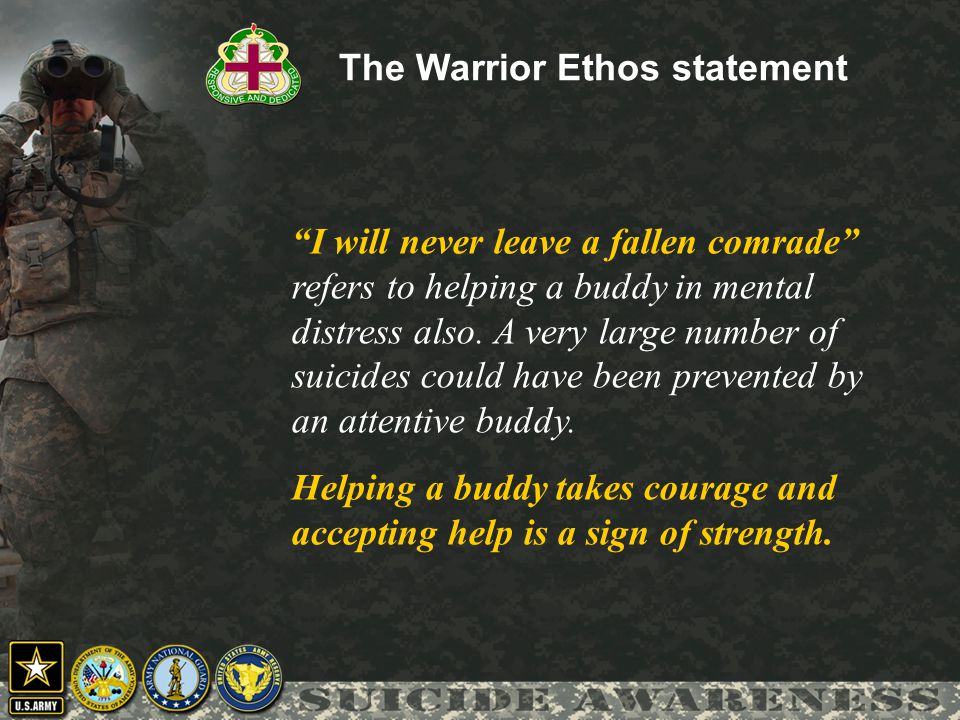 The Warrior Ethos statement