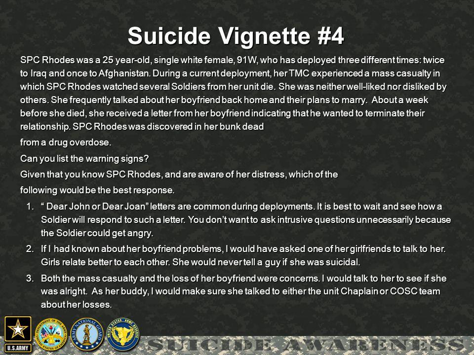 Suicide Vignette #4