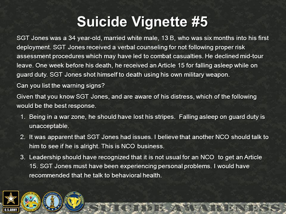 Suicide Vignette #5