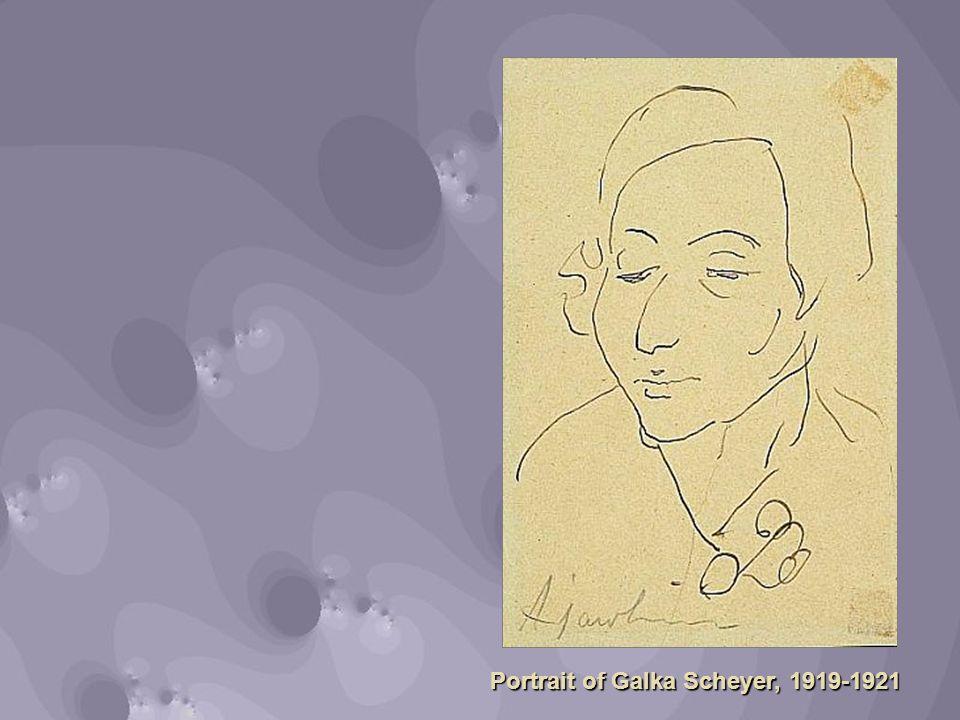 Portrait of Galka Scheyer, 1919-1921