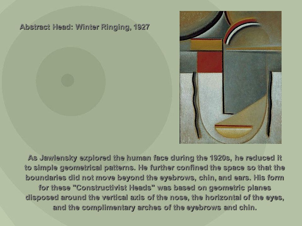 Abstract Head: Winter Ringing, 1927