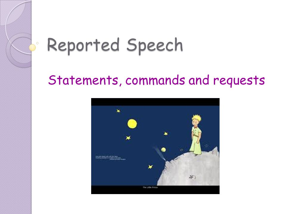 Statements, commands and requests