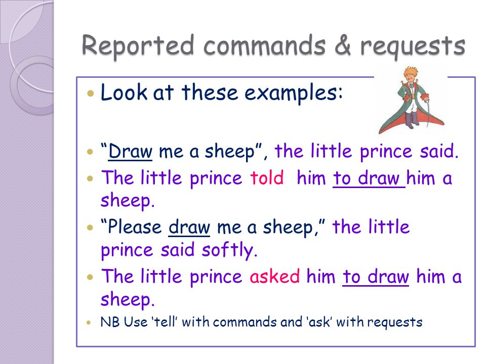 Reported commands & requests