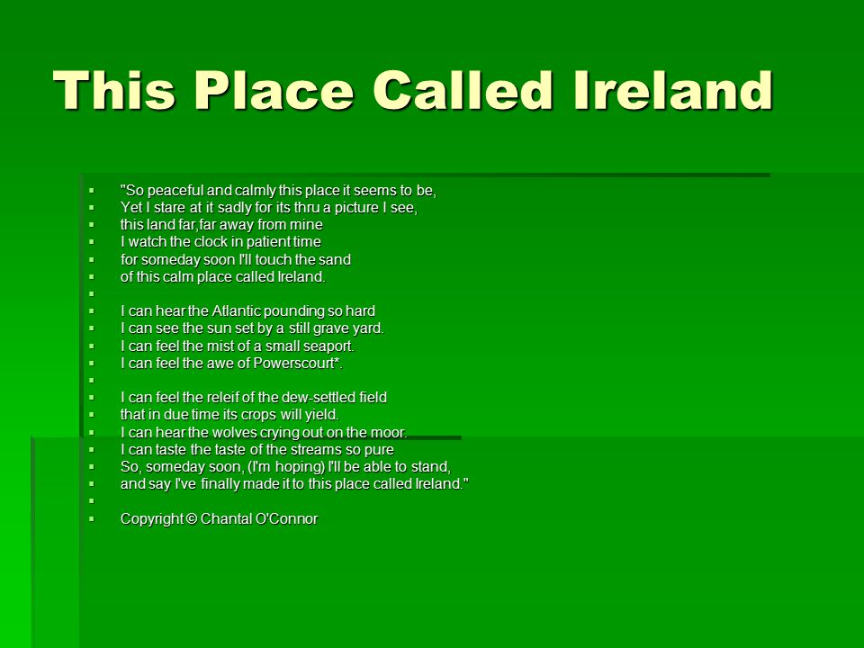 This Place Called Ireland