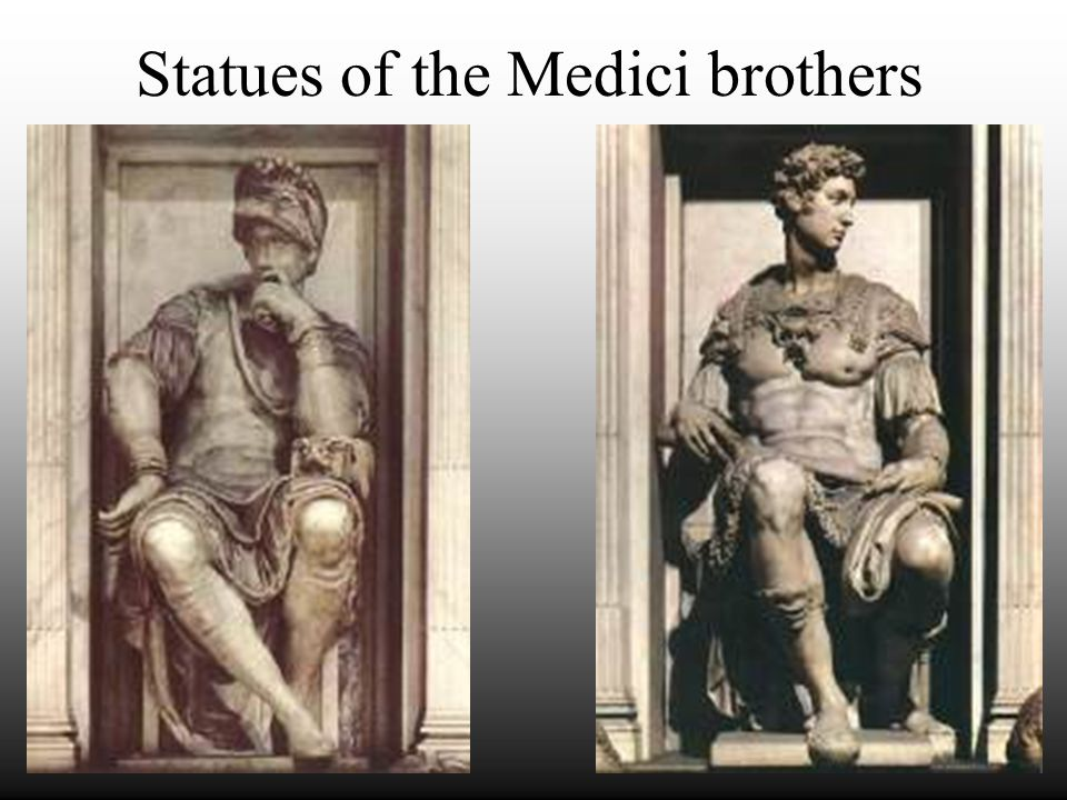 Statues of the Medici brothers
