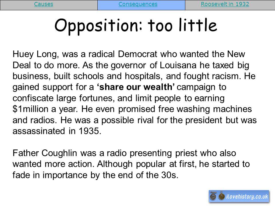 Opposition: too little