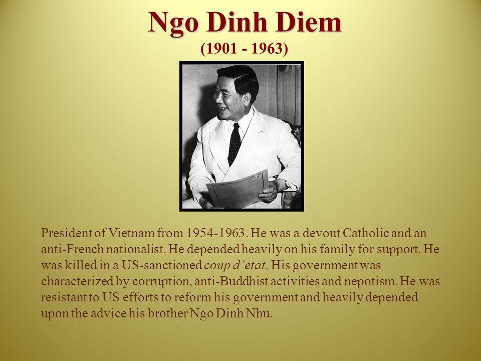 Ngo Dinh Diem (1901 - 1963)