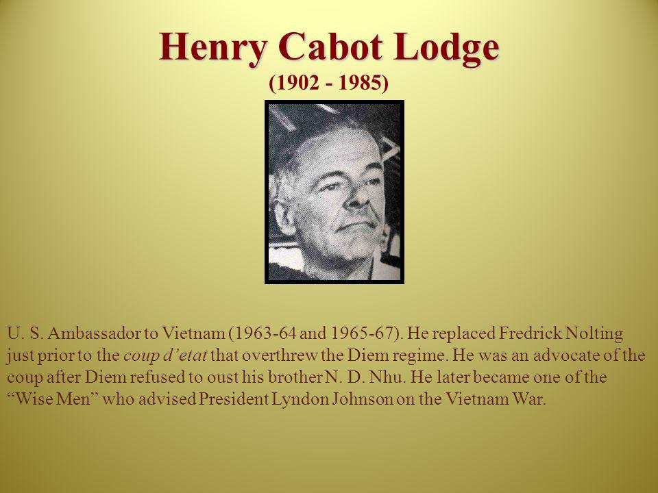 Henry Cabot Lodge (1902 - 1985)
