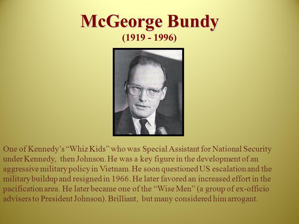 McGeorge Bundy (1919 - 1996)