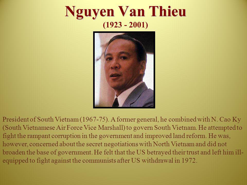 Nguyen Van Thieu (1923 - 2001)
