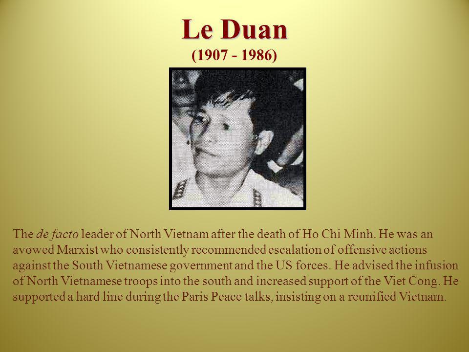 Le Duan (1907 - 1986)