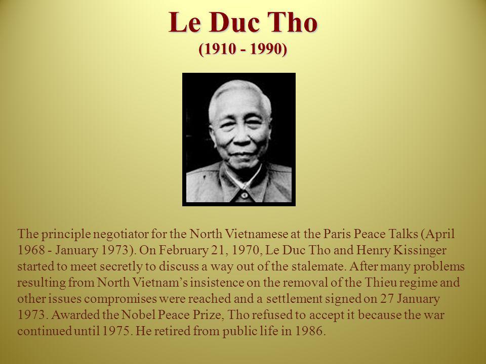 Le Duc Tho (1910 - 1990)
