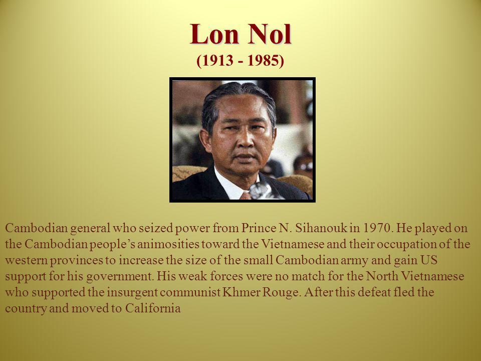 Lon Nol (1913 - 1985)
