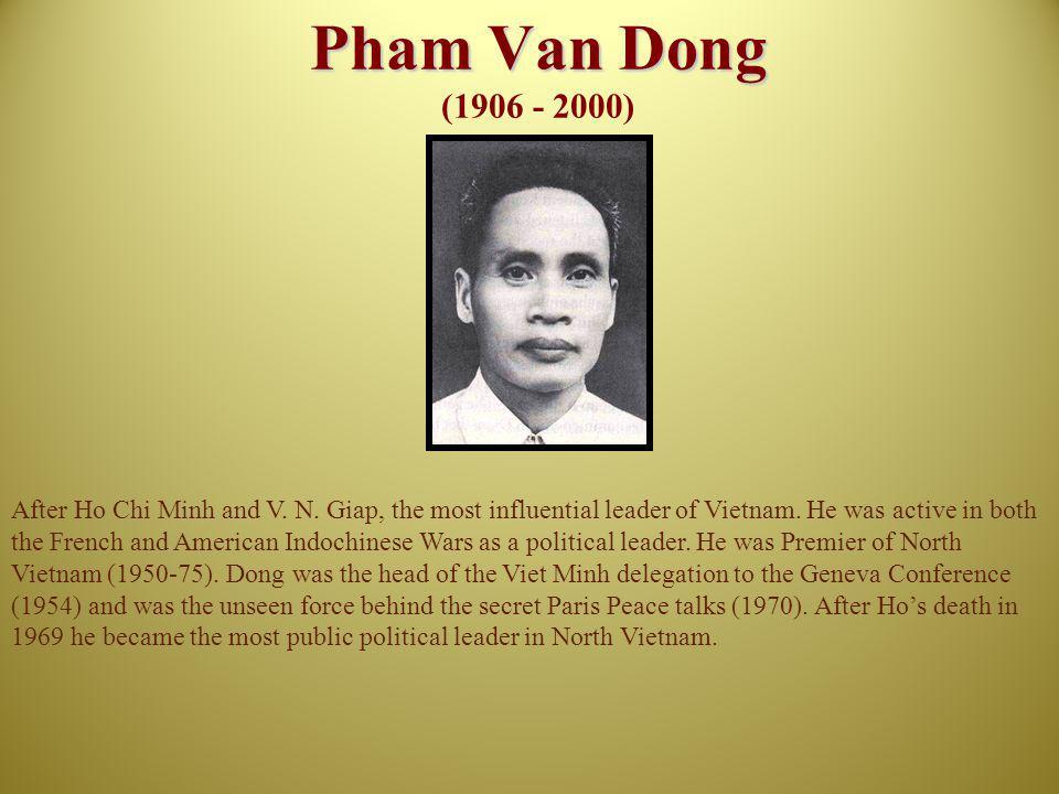 Pham Van Dong (1906 - 2000)