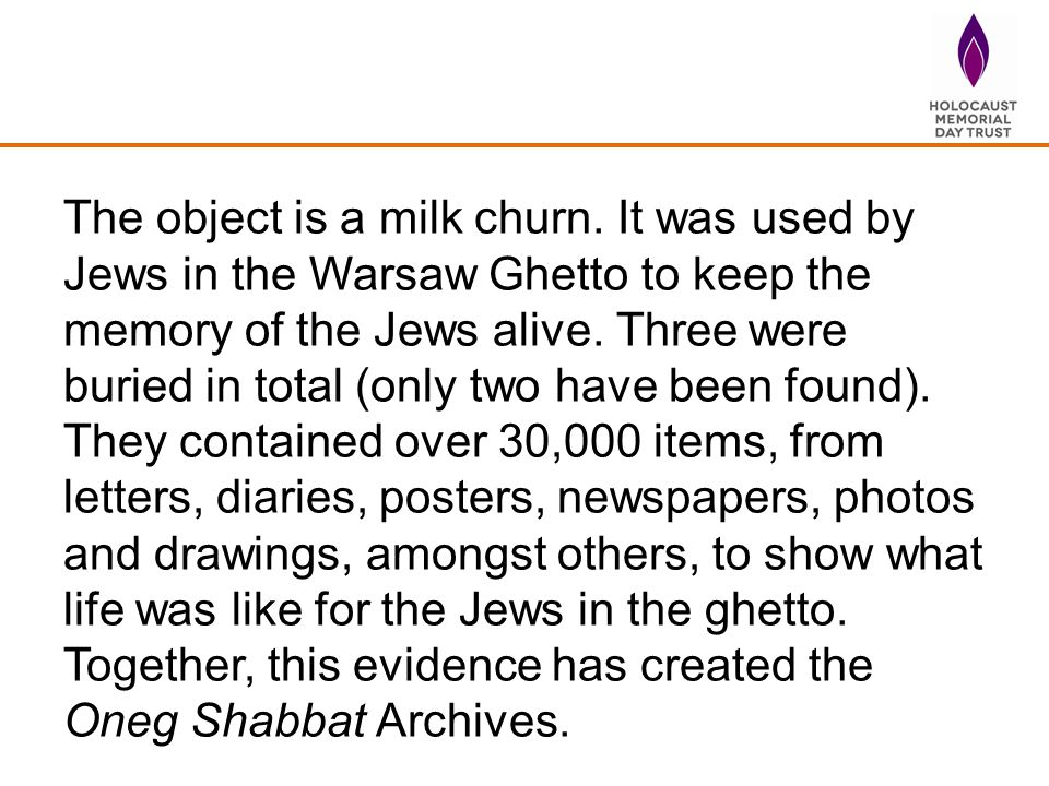 The object is a milk churn