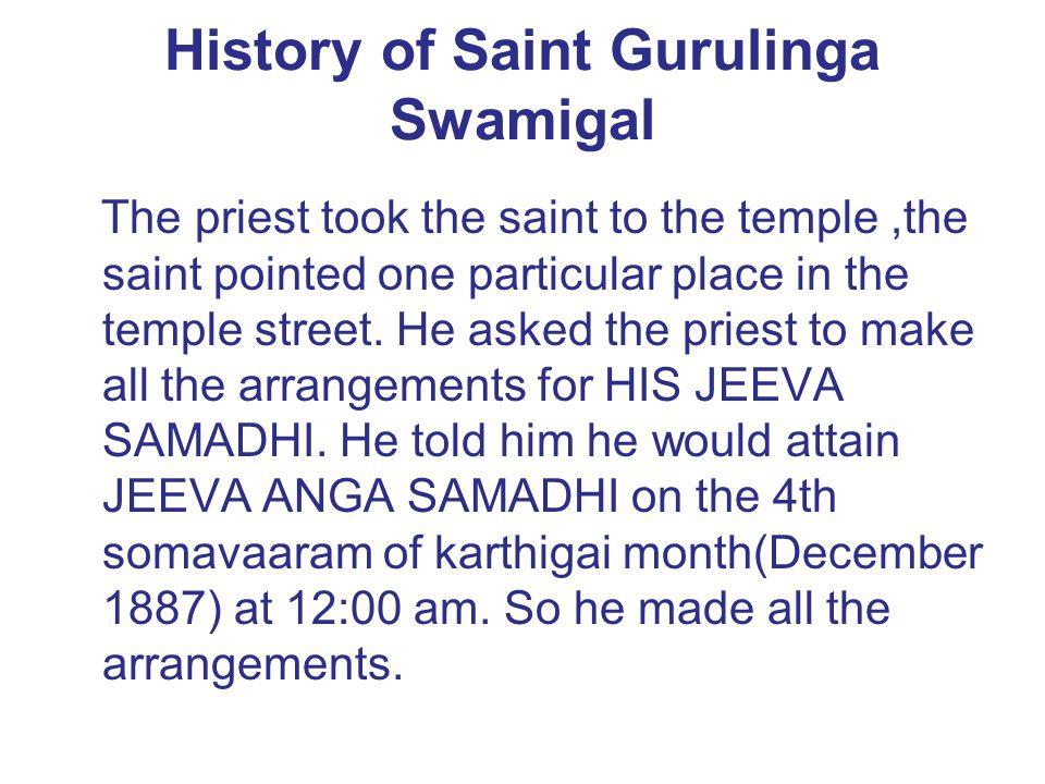 History of Saint Gurulinga Swamigal
