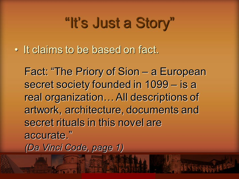 It's Just a Story It claims to be based on fact.