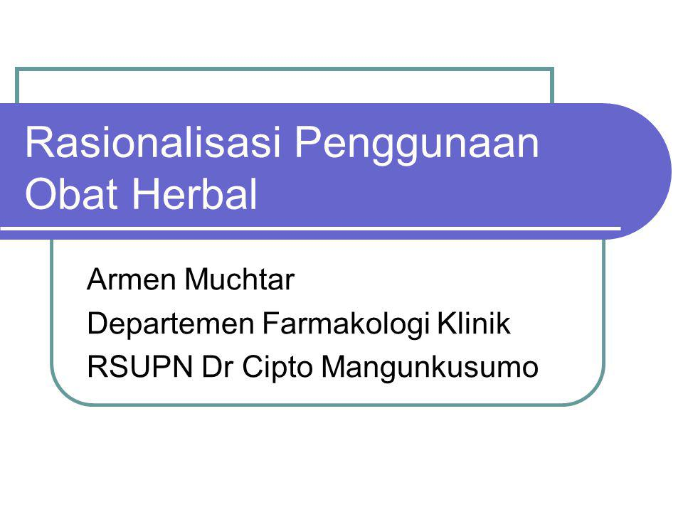 Rasionalisasi Penggunaan Obat Herbal