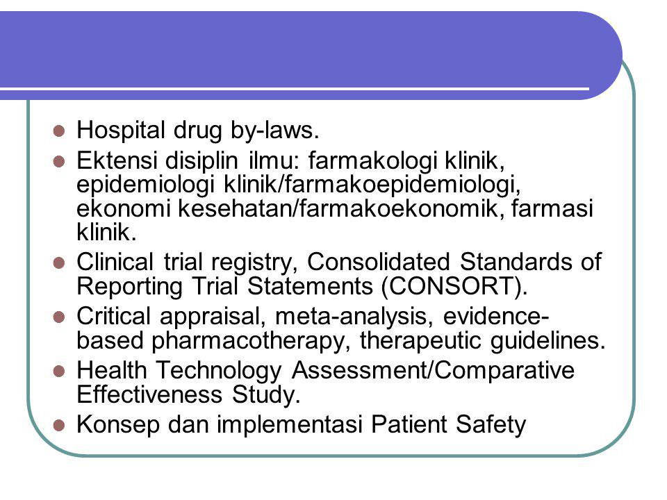 Hospital drug by-laws.