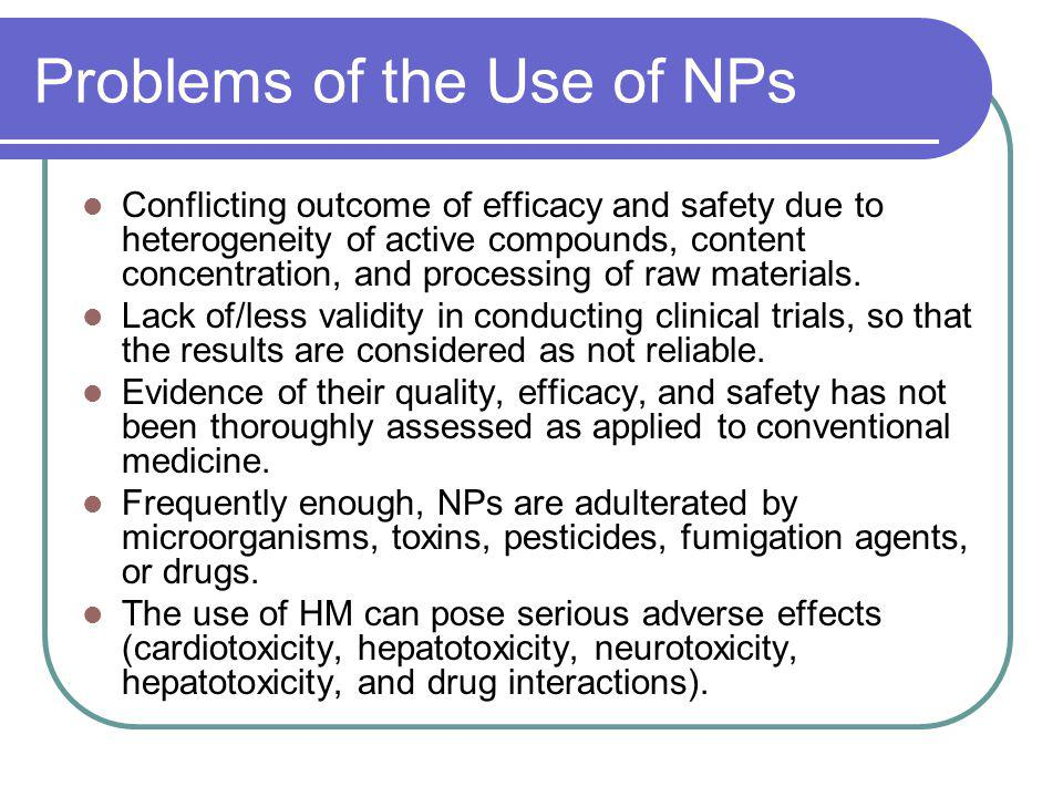 Problems of the Use of NPs