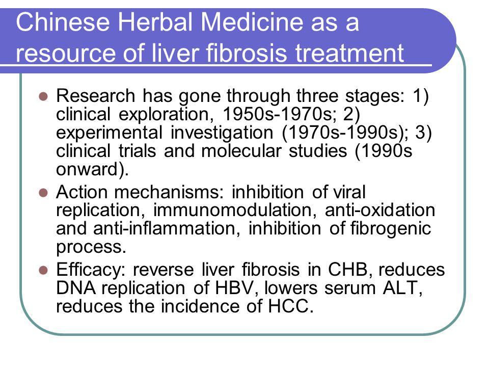 Chinese Herbal Medicine as a resource of liver fibrosis treatment
